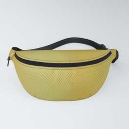 Gold Bright Metallic Carbon Fiber Pattern Fanny Pack
