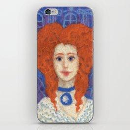 Red Hair iPhone Skin