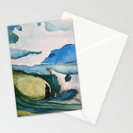 Watercolor Surfer Stationery Cards
