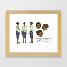 Darshanna Penna Character Design II Framed Art Print