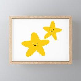 Kawaii Starfish Friends Framed Mini Art Print