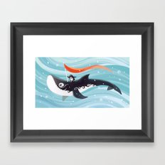 Grandpa Orca Framed Art Print