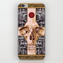Cross Skull H.R.Giger Style iPhone Skin