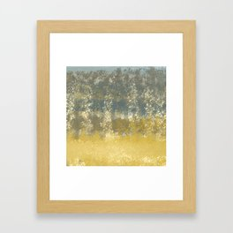 Blue and Gold Textures Abstract Framed Art Print