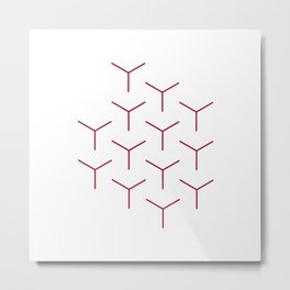 #248 Rods – Geometry Daily Metal Print