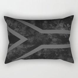 Black South Africa Flag Rectangular Pillow