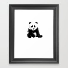 Pixel Panda Framed Art Print