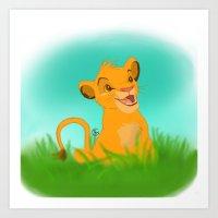 simba Art Prints featuring Simba by Rachelmel1