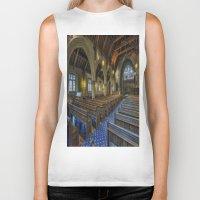 christ Biker Tanks featuring Christ Church by Ian Mitchell