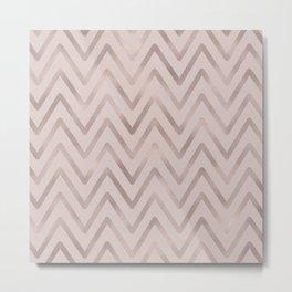 Mauve pink faux rose gold modern geometrical Metal Print