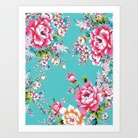 Hakka Fashion Flower Art Print