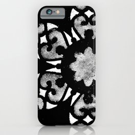 Silver and White Mandala Watercolor iPhone Case