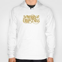 merry christmas Hoodies featuring Merry Christmas by Better HOME