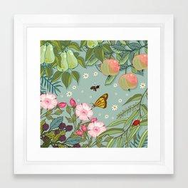 Orchard Fruits Framed Art Print
