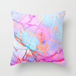 Graffiti Candy Marble Pattern Throw Pillow