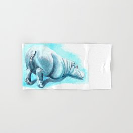 Bums-up Baby Hippo Fantasia Ballet Hand & Bath Towel
