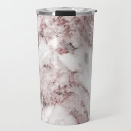 White and Pink Marble Mountain 04 Travel Mug