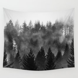 Charcoal Forest Fog - 26/365 Wall Tapestry