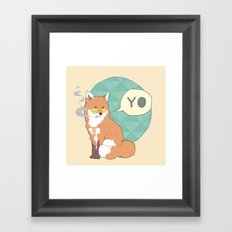 Mr Fox Framed Art Print