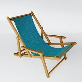 Wave pattern in teal Sling Chair