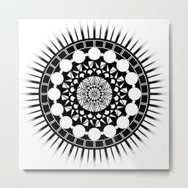 Mandala of Procrastination Metal Print