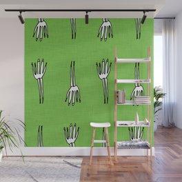 Skeletal Hand Green #Halloween Wall Mural