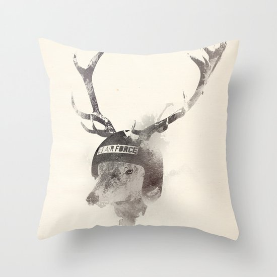In the memory of Buzz Harley Throw Pillow