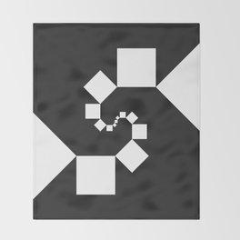 Fibonacci Squares Throw Blanket