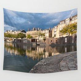 Nantes Riverside Scenery Wall Tapestry