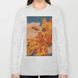 Giraffes Kissing Long Sleeve T-shirt