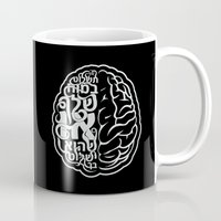 brain Mugs featuring Brain by RomaM