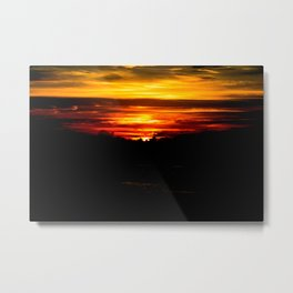 When the sun sets upon us Metal Print