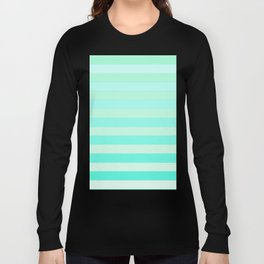 Green Teal Stripe Fade Long Sleeve T-shirt