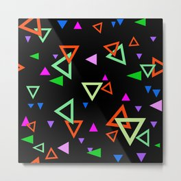Abstract bright geometric Metal Print