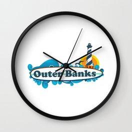 Outer Banks - North Carolina. Wall Clock