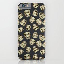 Guy Fawkes Masks on Gunpowder iPhone Case