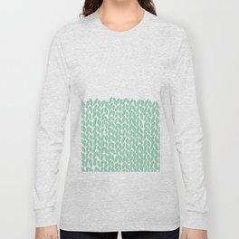 Half Knit Mint Long Sleeve T-shirt