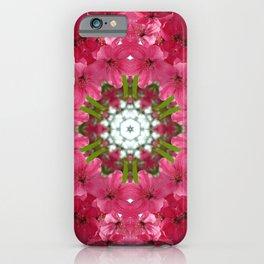 Spring crabapple blossom mandala iPhone Case