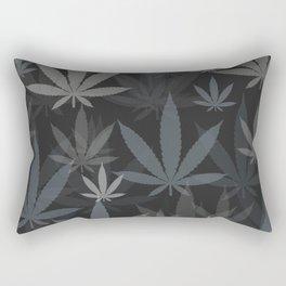 Marijuana Cannabis Weed Pot Grey Tones Rectangular Pillow