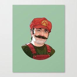 Depixelated Original Mario Canvas Print