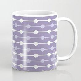 Dots Stripes Ultraviolet Coffee Mug