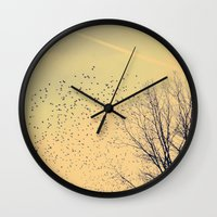 fly Wall Clocks featuring Fly by Olivia Joy StClaire