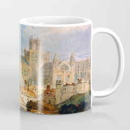View of Ely Cathedral - Joseph Mallord William Turner Coffee Mug