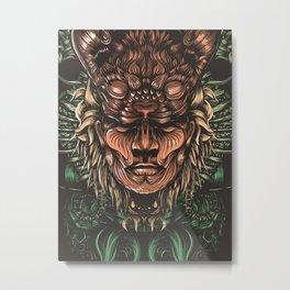 Feline human Metal Print