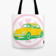 Volkswagen VW Beetle pop art clock t-shirt Tote Bag