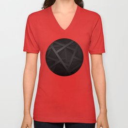 Black Web Unisex V-Neck