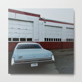 Blue Cadillac Metal Print