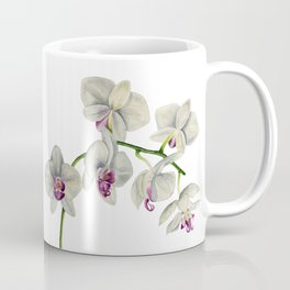 Orchid Watercolor Painting Coffee Mug