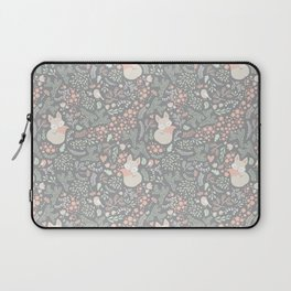 Sleeping Fox - grey pattern design Laptop Sleeve