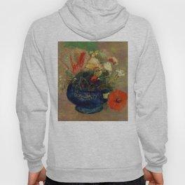 "Odilon Redon ""Flowers in a Blue Cup (Fleurs dans une coupe bleue)"" Hoody"